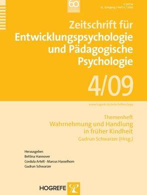Zeitschrift für Entwicklungspsychologie und Pädagogische Psychologie von Schwarzer,  Gudrun