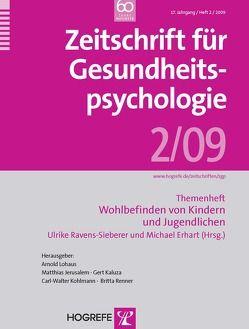 Zeitschrift für Gesundheitspsychologie von Erhart,  Michael, Ravens-Sieberer,  Ulrike