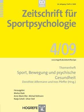 Zeitschrift für Sportpsychologie / Zeitschrift für Sportpsychologie von Alfermann,  Dorothee, Pfeffer,  Ines