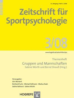 Zeitschrift für Sportpsychologie / Zeitschrift für Sportpsychologie von Strauss,  Bernd, Würth,  Sabine