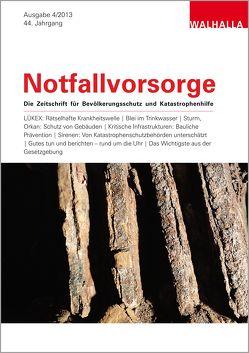 Zeitschrift Notfallvorsorge Heft 04/2013 von Walhalla Fachverlag
