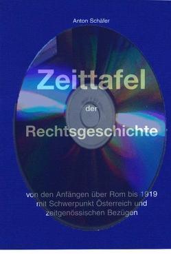 Zeittafel der Rechtsgeschichte von Schäfer,  Anton