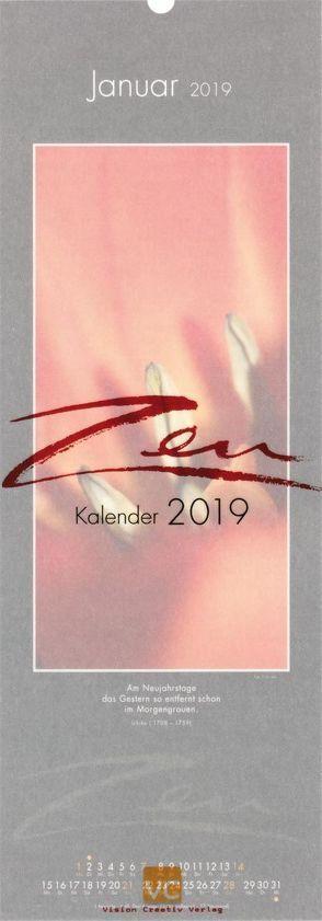 Zen-Kalender 2019 von Orth,  Vis