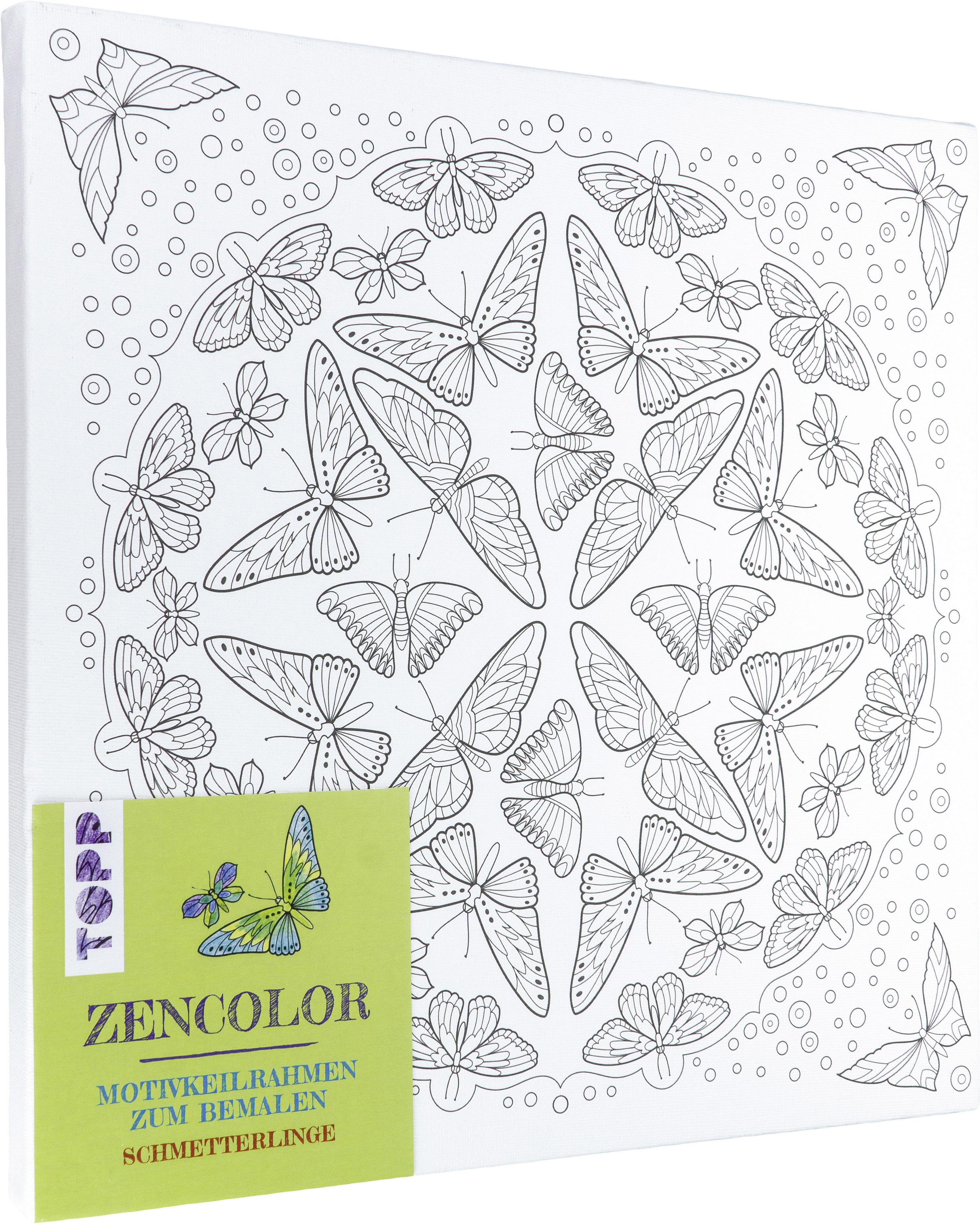 Zencolor motivkeilrahmen schmetterlinge von frechverlag for Mosaik vorlagen zum ausdrucken