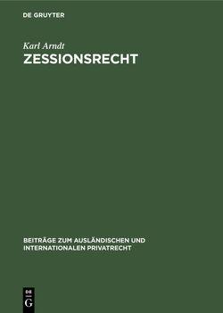 Zessionsrecht von Arndt,  Karl