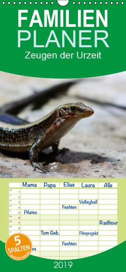 Zeugen der Urzeit- Reptilien und Amphibien – Familienplaner hoch (Wandkalender 2019 , 21 cm x 45 cm, hoch) von Di Chito,  Ursula