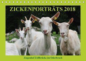 Zickenporträts 2018 (Tischkalender 2018 DIN A5 quer) von und Dietmar Püpke,  Antje