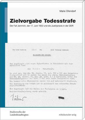 Zielvorgabe Todesstrafe von Ollendorf,  Marie