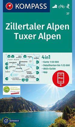 Zillertaler Alpen, Tuxer Alpen von KOMPASS-Karten GmbH