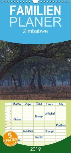 Zimbabwe – Familienplaner hoch (Wandkalender 2019 , 21 cm x 45 cm, hoch) von Wolf,  Gerald