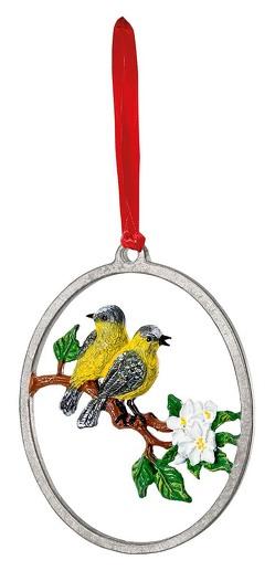 Zinnanhänger »Alle Vögel sind schon da«