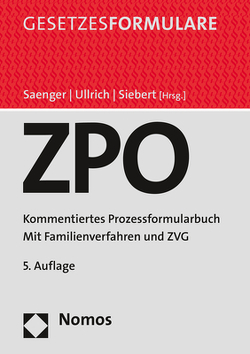 Zivilprozessordnung von Saenger,  Ingo, Siebert,  Oliver, Ullrich,  Christoph