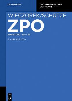 Zivilprozessordnung und Nebengesetze / Einleitung §§; 1-49 von Gerken,  Uwe, Kruis,  Ferdinand, Reuschle,  Fabian, Smid,  Stefan