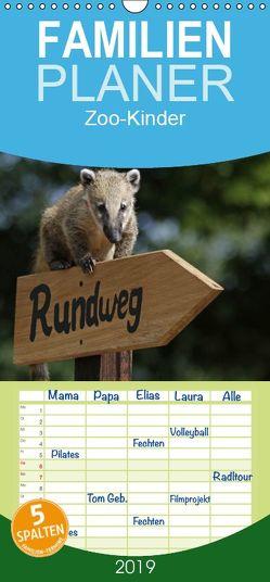 Zoo-Kinder – Familienplaner hoch (Wandkalender 2019 , 21 cm x 45 cm, hoch) von Pferdografen.de