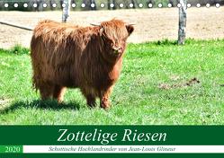 Zottelige Riesen – Schottische Hochlandrinder (Tischkalender 2020 DIN A5 quer) von Glineur,  Jean-Louis