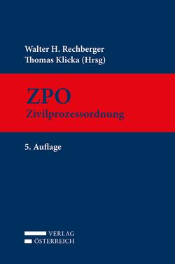 ZPO von Klicka,  Thomas, Rechberger,  Walter