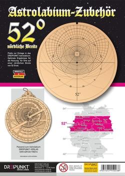 Zubehör-Platte 52° (für Astrolabium)