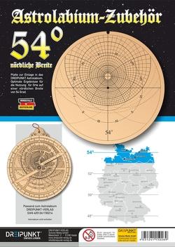 Zubehör-Platte 54° (für Astrolabium)