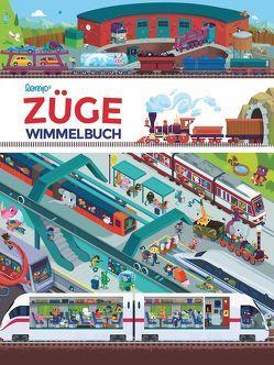 Züge Wimmelbuch von Lomp,  Stephan