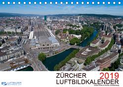 Zürcher Luftbildkalender 2019CH-Version (Tischkalender 2019 DIN A5 quer) von Luftbilderschweiz.ch, Rühle & Roman Schellenberg,  André