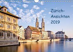 Zürich-Ansichten 2019CH-Version (Wandkalender 2019 DIN A4 quer) von Jaenecke,  Sven