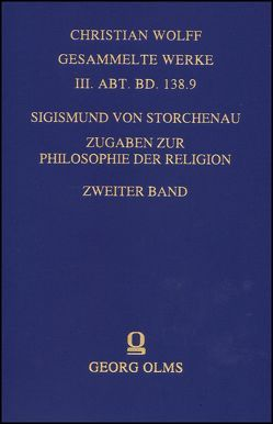 Zugaben zur Philosophie der Religion. von Storchenau,  Sigismund von