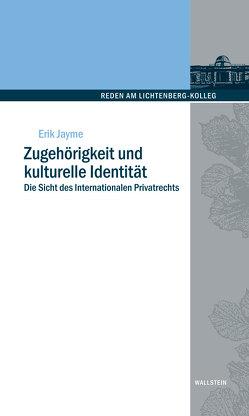 Zugehörigkeit und kulturelle Identität von Coester-Waltjen,  Dagmar, Jayme,  Erik