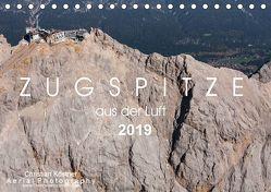 Zugspitze aus der Luft (Tischkalender 2019 DIN A5 quer)