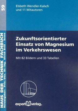 Zukunftsorientierter Einsatz von Magnesium im Verkehrswesen von Wendler-Kalsch,  Elsbeth