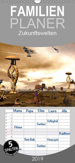 Zukunftswelten (Science Fiction) – Familienplaner hoch (Wandkalender 2019 , 21 cm x 45 cm, hoch) von Schröder,  Karsten