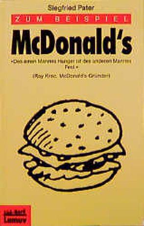 Zum Beispiel McDonald's von Launer,  Ekkehard, Pater,  Siegfried