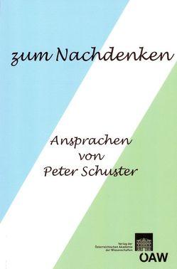 zum Nachdenken von Schuster,  Peter