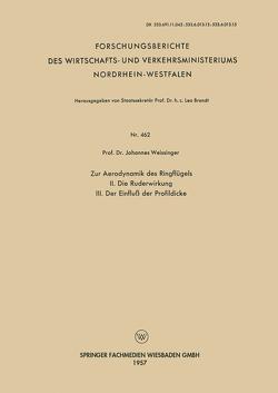 Zur Aerodynamik des Ringflügels von Weissinger,  Johannes
