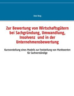 Zur Bewertung von Wirtschaftsgütern bei Sachgründung, Umwandlung, Insolvenz und in der Unternehmensbewertung von Borg,  Uwe