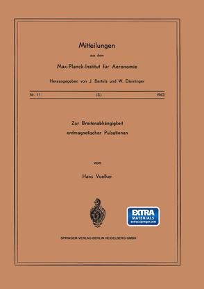 Zur Breitenabhängigkeit erdmagnetischer Pulsationen von Voelker,  H.