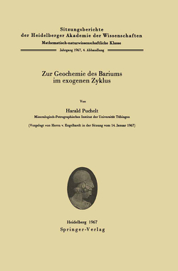 Zur Geochemie des Bariums im exogenen Zyklus von Puchelt,  Harald