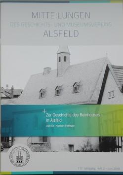 Zur Geschichte des Beinhauses in Alsfeld von Hansen,  Dr. Norbert
