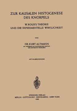 Zur Kausalen Histogenese des Knorpels von Altmann,  K.
