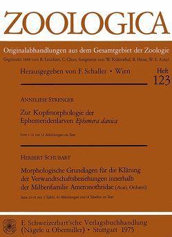 Zur Kopfmorphologie der Ephemeridenlarven Ephemera danica. – Schubart, Herbert: Morphologische Grundlagen für die Klärung der Verwandtschaftsbeziehungen innerhalb der Milbenfamilie Ameronothridae (Acar, Oribatei) von Strenger,  Anneliese
