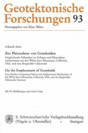 Zur Platznahme von Granitoiden /On the Emplacement of Granitoids von Stein,  Eckhardt