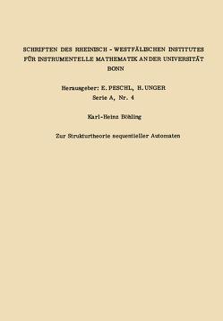 Zur Strukturtheorie sequentieller Automaten von Böhling,  Karl Heinz