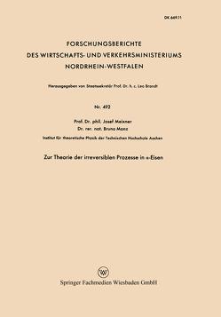 Zur Theorie der irreversiblen Prozesse in α-Eisen von Meixner,  Josef