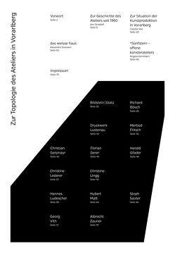 Zur Topologie des Ateliers in Vorarlberg von Gfader,  Harald, Grausam,  Alexandra, Kemmann,  Brigitte, Schafaff,  Jörn, Voit,  Claudia