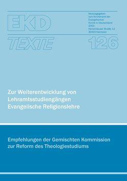 Zur Weiterentwicklung von Lehramtsstudiengängen Evangelische Religionslehre