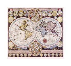 Zürner's Weltkarte von 1710 (Digitaldruck)