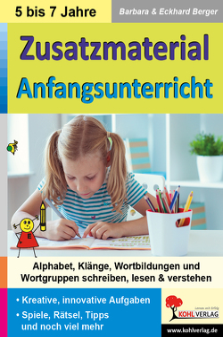 Zusatzmaterial Anfangsunterricht von Berger,  Barbara, Berger,  Eckhard