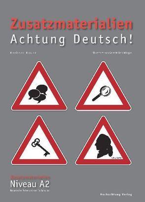 Zusatzmaterialien Achtung Deutsch A2 von Bauer,  Barbara, Feichtinger,  Gernot