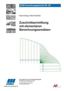 Zuschnittsermittlung mit elementaren Berechnungsansätzen von Doege,  Eckart, Rambke,  Martin