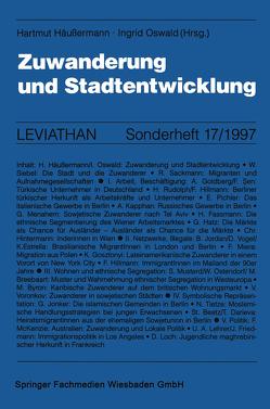 Zuwanderung und Stadtentwicklung von Häußermann,  Hartmut, Oswald,  Ingrid
