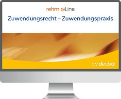 Zuwendungsrecht – Zuwendungspraxis online von Krämer,  Erwin, Schmidt,  Jürgen